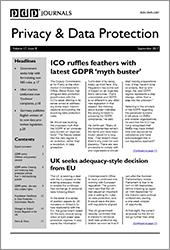Privacy & Data Protection - Volume 17, Issue 8
